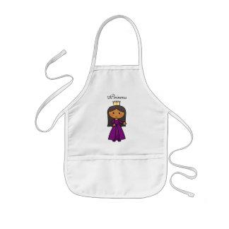 Cartoon-Klipp-Kunst-niedliche Prinzessin mit Tiara Kinderschürze