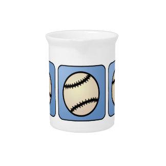 Cartoon-Klipp-Kunst-Sport, Baseball, blauer Krug