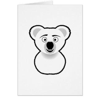 Cartoon-Koala-Bär Karte