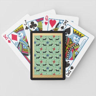 Cartoon-Köter Pokerkarten