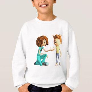 Cartoon-Krankenschwester und kleiner Junge Sweatshirt