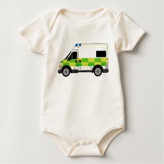 Cartoon-Krankenwagen Baby Strampler