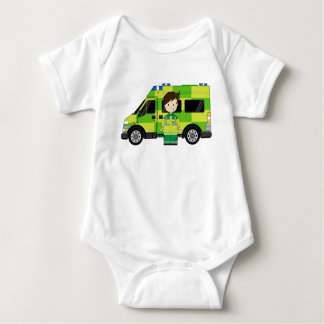 Cartoon-Krankenwagen und EMT Baby Strampler