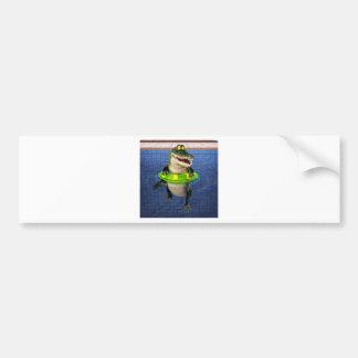 Cartoon-Krokodil im tiefen Ende Autoaufkleber