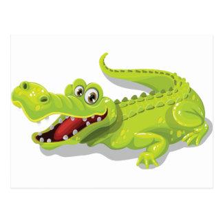 Cartoon-Krokodil Postkarte