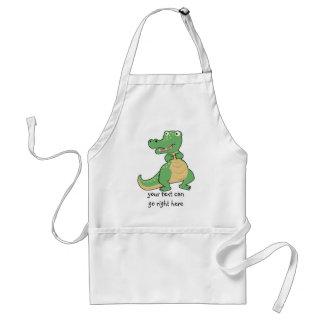 Cartoon-Krokodil-Schürze Schürze