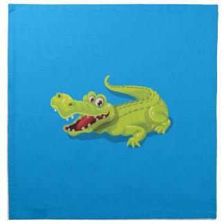 Cartoon-Krokodil Serviette