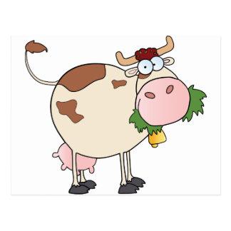 Cartoon-Kuh-Charakter Postkarte
