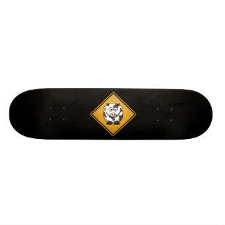Cartoon-Kuh-Warnzeichen Skateboarddecks