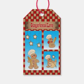 Cartoon-Lebkuchen-Mann-Bäcker Geschenkanhänger