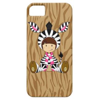 Cartoon-Mädchen im Zebra-Kostüm Etui Fürs iPhone 5