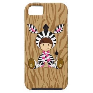 Cartoon-Mädchen im Zebra-Kostüm iPhone 5 Schutzhüllen