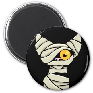Cartoon-Mama-Katzen-Halloween-Neuheits-Magneten Runder Magnet 5,1 Cm