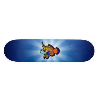 Cartoon-Mandarine/Dragonet Fische Bedrucktes Skateboard