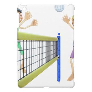 Cartoon-Männer, die Volleyball spielen iPad Mini Hülle