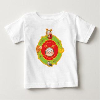 Cartoon-Marienkäfer-Lebenszyklus-Baby-Shirt T Shirt