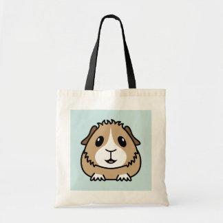 Cartoon-Meerschweinchen-Einkaufstasche Budget Stoffbeutel