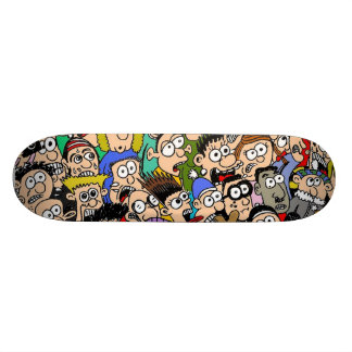 Cartoon-Mengen-SzeneSkateboard durch Sam Backhouse Skateboarddecks