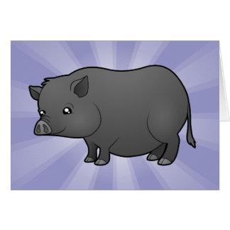 Cartoon-Miniatur-Schwein Karte