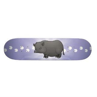 Cartoon-Miniatur-Schwein Skateboard Brett