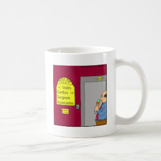 Cartoon mit 538 Treppen Kaffeetasse