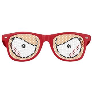 Cartoon mustert verärgerte mittlere sonnenbrille