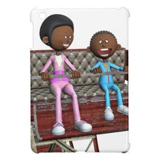 Cartoon-Mutter und Sohn auf einem Riesenrad iPad Mini Hülle