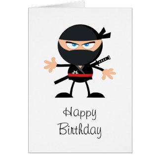 Cartoon Ninja alles Gute zum Geburtstag Karte