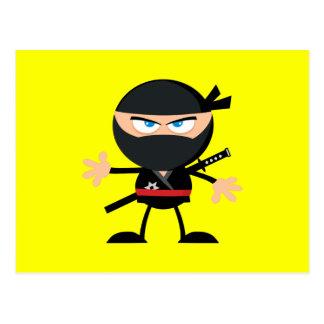 Cartoon Ninja Krieger-Gelb Postkarten