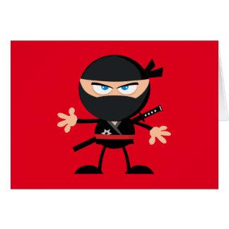 Cartoon Ninja Krieger-Rot danken Ihnen Karte