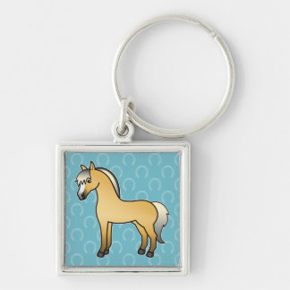 Cartoon-norwegisches Fjord-Pferd Schlüsselband