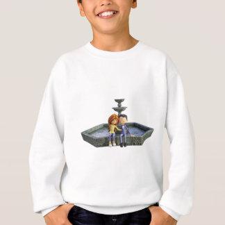 Cartoon-Paare am Brunnen Sweatshirt