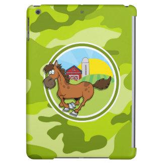 Cartoon-Pferd; hellgrüne Camouflage, Tarnung