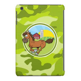 Cartoon-Pferd; hellgrüne Camouflage, Tarnung iPad Mini Hülle