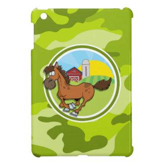 Cartoon-Pferd; hellgrüne Camouflage, Tarnung iPad Mini Schale