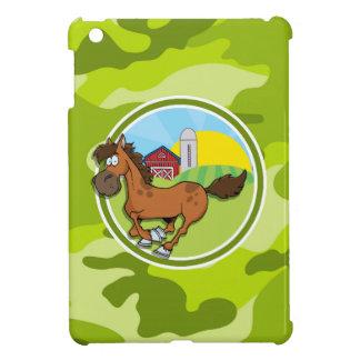 Cartoon-Pferd; hellgrüne Camouflage, Tarnung Hüllen Für iPad Mini