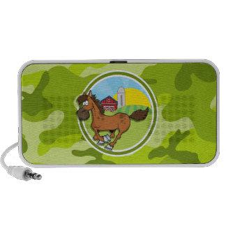 Cartoon-Pferd hellgrüne Camouflage Tarnung Speaker