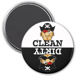 Cartoon-Piraten-Spülmaschinen-Magnet Kühlschrankmagnete