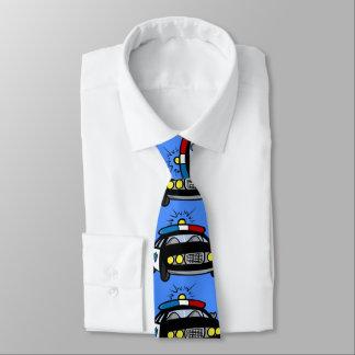 Cartoon-Polizei-Auto-Hals-Krawatte Krawatte