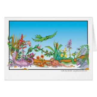 Cartoon-Regenwaldgeschöpfe Julie Ann Stricklin Karte