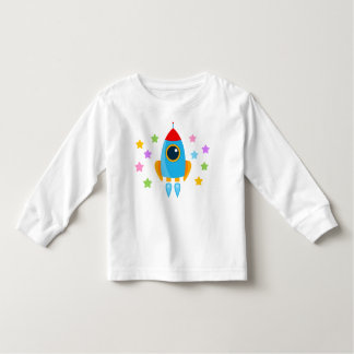Cartoon Rocket Kleinkinder T-shirt