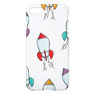 Cartoon-Rocket-Schiffs-Muster iPhone 7 Hülle
