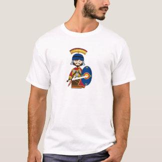 Cartoon-römischer Befehlshaber-Soldat T-Shirt