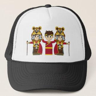 Cartoon-römischer Kaiser und Soldaten Truckerkappe