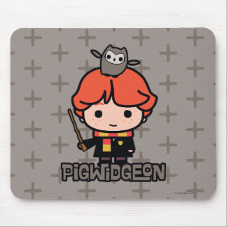 Cartoon Ron Weasley und Pigwidgeon Mousepad