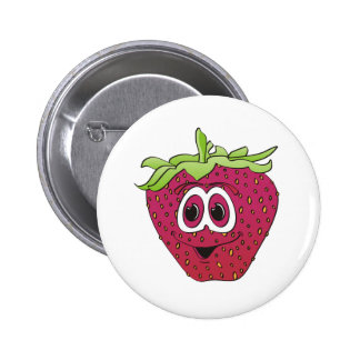 Cartoon-rosa Erdbeere Buttons