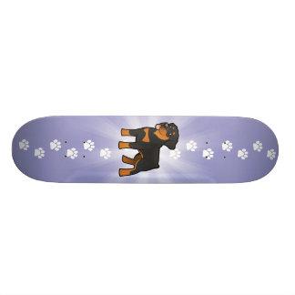 Cartoon Rottweiler Individuelle Skateboards