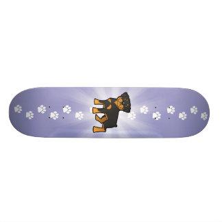 Cartoon Rottweiler Skateboardbrett