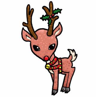 Cartoon-Rudolf-Weihnachten Freistehende Fotoskulptur
