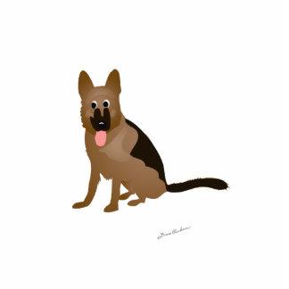 Cartoon-Schäferhund-Hund Freistehende Fotoskulptur